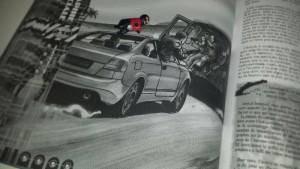 Boss, à l'illustration : « Approche-toi, plus près, je vais sauter ! » Illustration : « T'es con je suis figé !! J'suis une putain d'illustration mec ! »