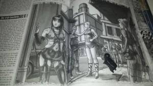 Ninja : « ... N'entrez pas, c'est une vraie boucherie » Illustration au premier plan : « OMAGAD »