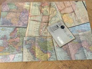 La carte consiste en réalité en un patchwork de cartes et c'est bien utile parce que va-t-en situer le Népal de tête…