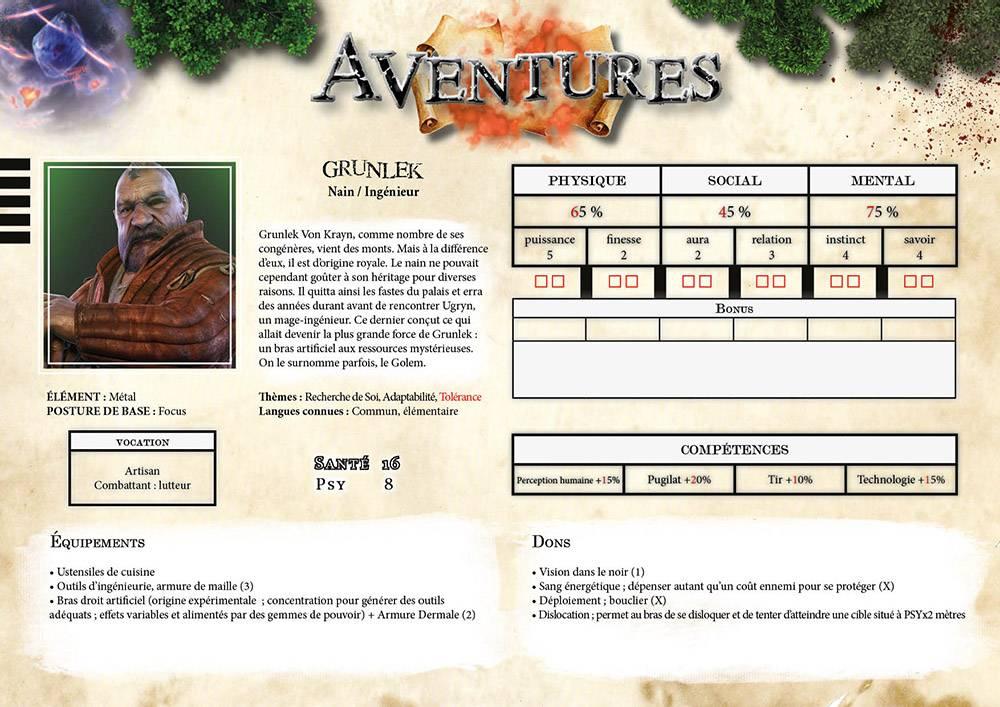 Nouvelles aventures de Grunlek